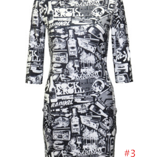 Fashion Sexy Print Half Sleeve Penc..