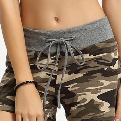 Camouflage High Waist Bandage Draws..