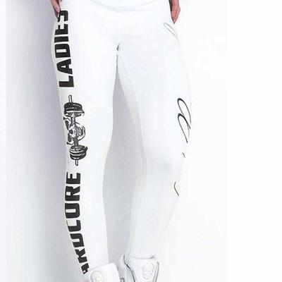 Letter Print Low Waist Slim Long Sp..