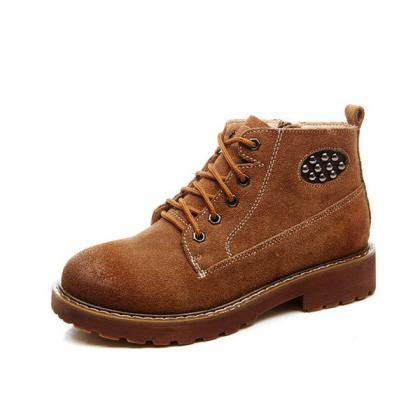 British Martin Round Toe Lace Up Sh..