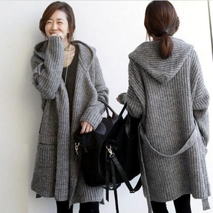 Pure Color Long Sleeves Pockets Lon..