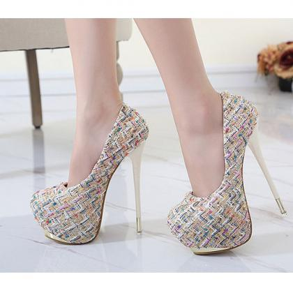 Righteous Patchwork Stiletto Heel R..