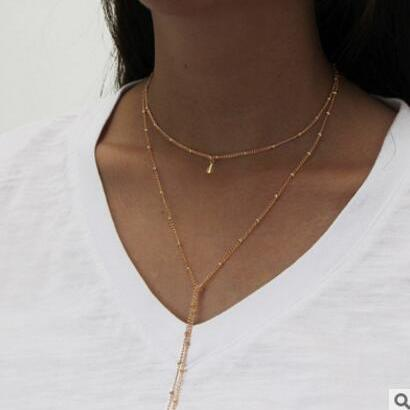 Contracted Double Long Alloy Neckla..
