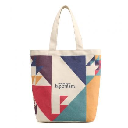 Casual Geometric Pattern Canvas Sho..