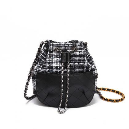 Casual Plaid Women Shoulder Bag