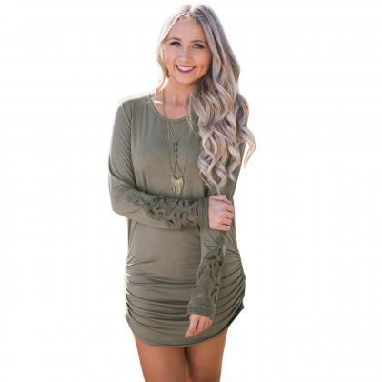 Solid Color Color Loose Long Sleeve..