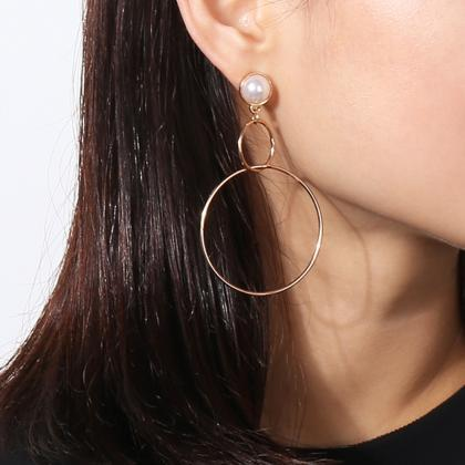 Fashion Metal Pearl Earrings