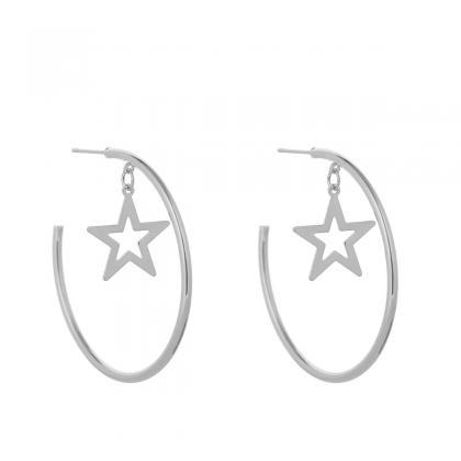Exaggerated Geometric Star Earrings