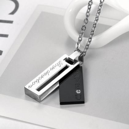 Fashion Rectangular Diamond Pendant..