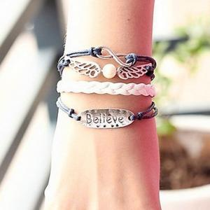 Angel Wings Believe Infinite Bracel..