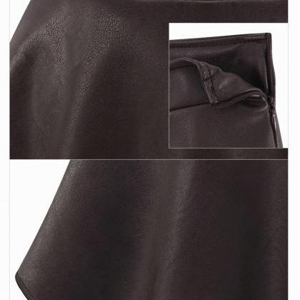 Women Short High Waist Faux Leather..