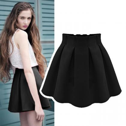 Fashion Women Ladies Flared Pleated..