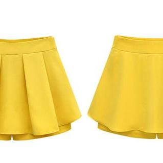 Pleated Chiffon Short Pants / Skort..
