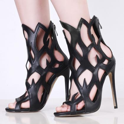 Open Toe Cut Out Gladiator Stiletto..