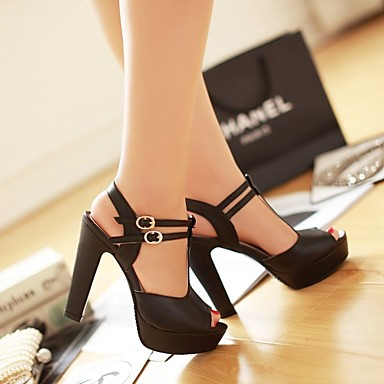 Fashion Platform Peep Toe Outdoor H..