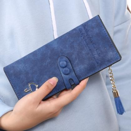 Women Lady Synthetic Leather Card H..