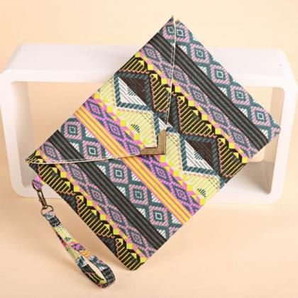 New Women Canvas Envelop Clutch Bag..