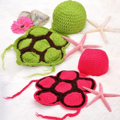 Newborn Baby tortoise hat Infant Kn..