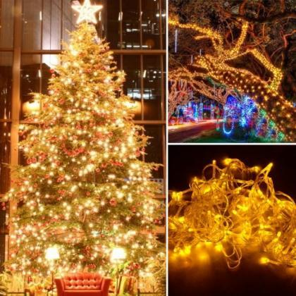 10M 100 LED Yellow Lights Decorativ..