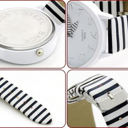 Zebra Strap Wrist Watch For Women S..