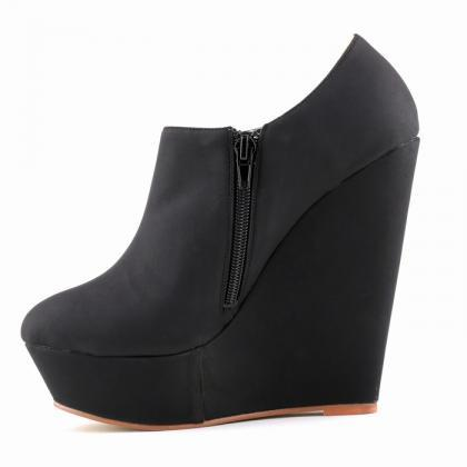 Sexy High-Heeled Wedge Nightclub Hi..