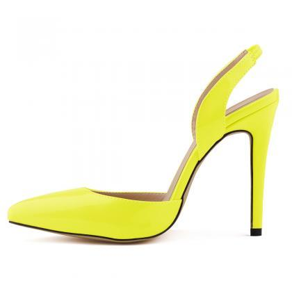Pointed Toe Sling Back High Heel St..