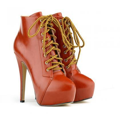 Super High Stiletto Heel Lace Up An..