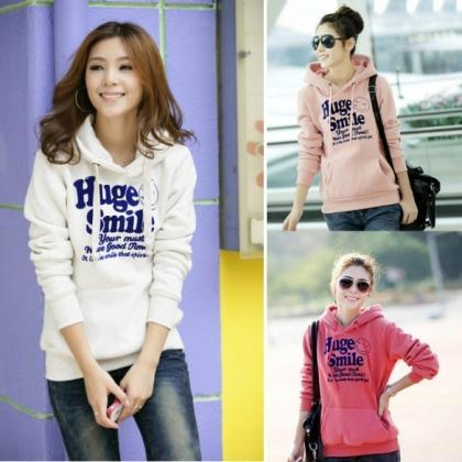 New Korean Thick Hooded Sweater Pul..