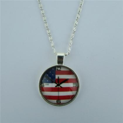 Personality American Flag Pendant N..