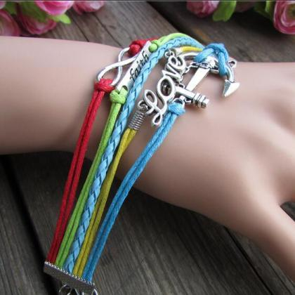 Colorful Anchor LOVE 8 Romantic Han..
