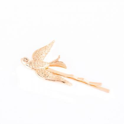 Cute Metal Swallow Women's Hairpin