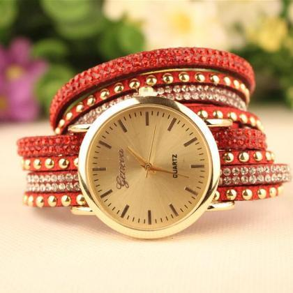 Fashion Rivet Bracelets Watch