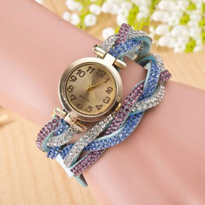Beautiful Crystal Woven Bracelet Wa..
