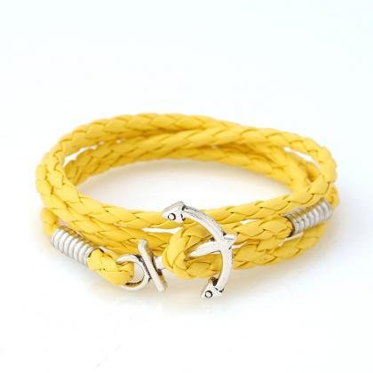 Fashion Anchor Hand-woven Bracelet
