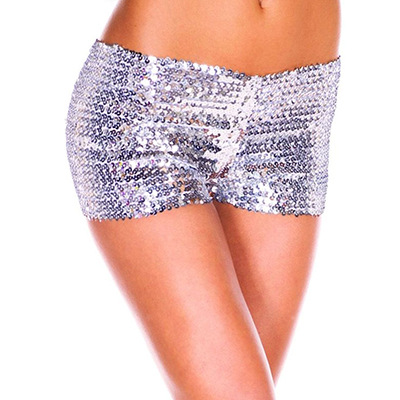 Sexy Pure Color Low Waist Sequins S..