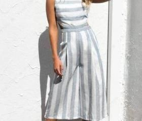 Sleeveless Striped W..