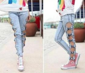 Hollow Bow Skinny Pa..