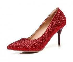 Glitter Pointed-Toe ..