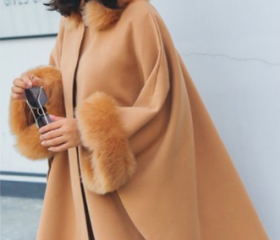 Hooded Faux Fur Coll..