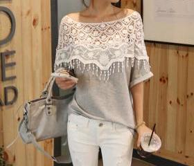 Lace Crochet Cape Ba..