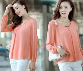 Long Sleeve Chiffon ..