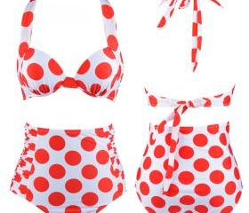 Polka Dots High Wais..