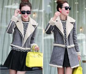 Lamb Wool Coat Jacke..