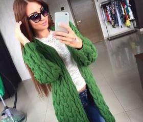 Cable Cardigan Long ..