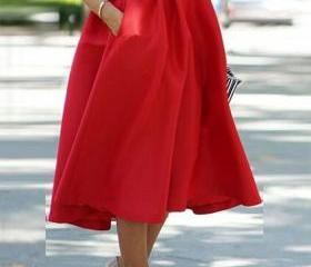 High Waist Pleated S..