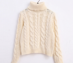 Cable Knit Turtlenec..
