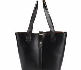 Faux Leather Tote Ba..