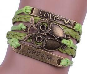 Green Love Dream Owl..