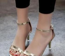 Metallic Open-Toe An..