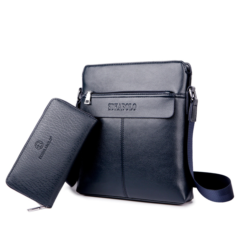 Vertical Type Men's Shoulder Bag(Add a man's wallet)